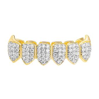 One size fits all bottom Grillz - VAMPIRE cubic ZIRCONIA gold silver
