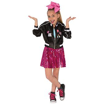 Jojo Siwa YouTube Star Celebrity Tänzerin Sänger Zip Up Black Jacket Mädchen Kostüm
