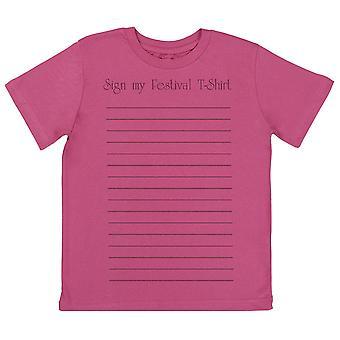 Sign My Festival T-Shirt - Kids T-Shirt
