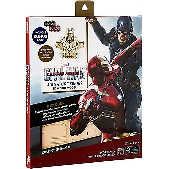 IncrediBuilds Marvel Captain Marvel Civil War 3D Wood Model and Book