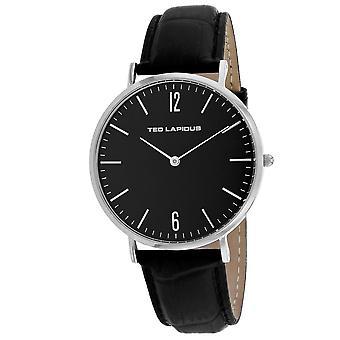 Ted Lapidus Men-apos;s Classic Black Dial Watch - 5131201