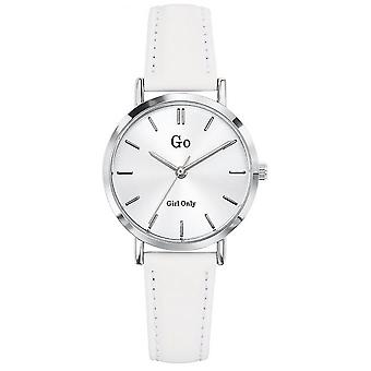 Watch Go Girl Only 698931 - Silver Steel Bracelet Leather White White Dial White Woman