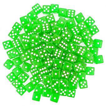 100 vihreä noppa-16 mm