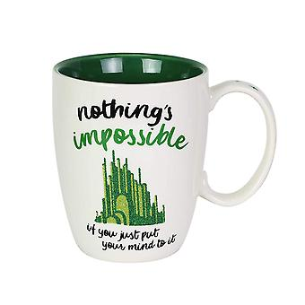 Mug - Wizard of Oz - Green Glitter Coffee Cup 12oz New 6003836