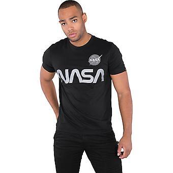 Οι βιομηχανίες άλφα της NASA αντανακλαστικό T-shirt μαύρο 83