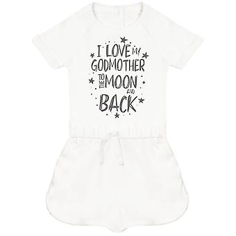 I Love My GodMother To The Moon And Back Baby Playsuit