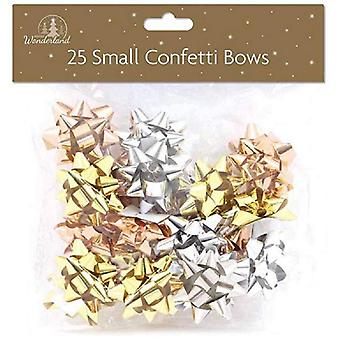 Festive Wonderland  Arctic Luxe Bows Confetti (Pack of 25)