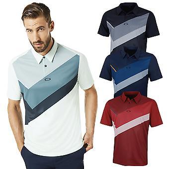 Oakley mens SS geplaatst kraag blok lichtgewicht Golf Polo shirt
