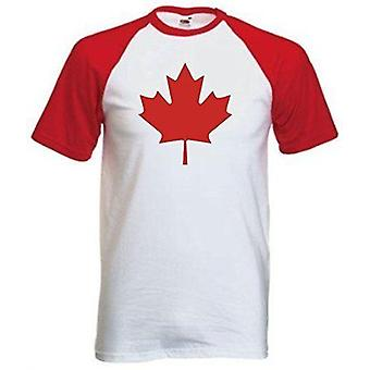 Mannen ' s Canada internationale vlag t-shirt
