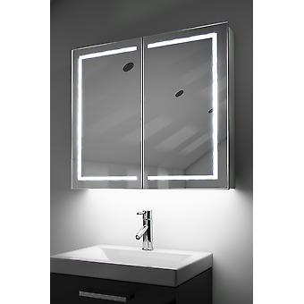 Demist Cabinet With LED Under Lighting, Sensor & Internal Shaver k368w