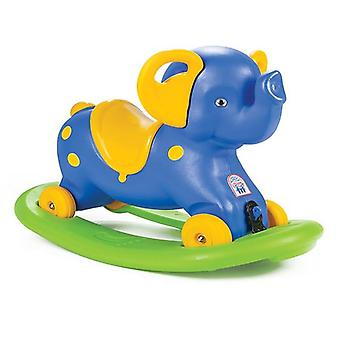 Pilsan Rocking Elephant 2 em 1, Rocking Animal, Slider plástico com rodas