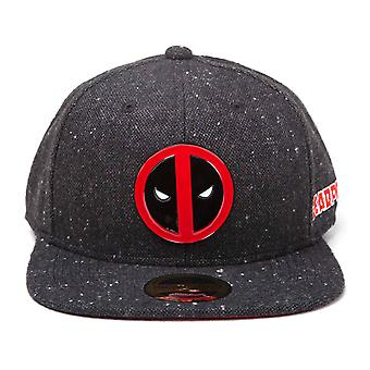 Deadpool Baseball Cap Metal Badge Logo new Official Marvel Black Snapback