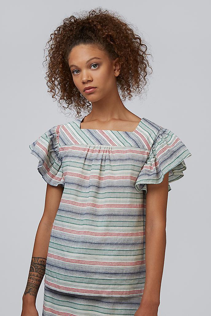 Louche Raymonde Striped Frill Sleeve Top