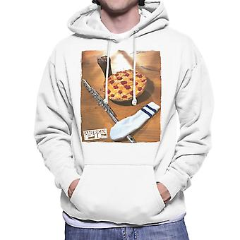 American Pie Flute Sock And Pie Men's Hooded Sweatshirt