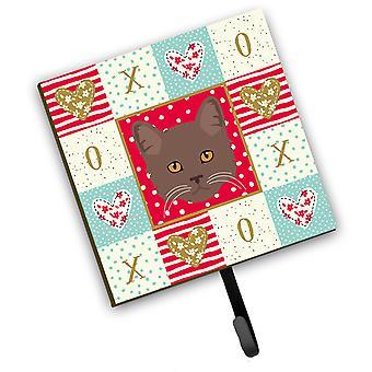 Carolines Treasures  CK5178SH4 York Chocolate Cat Love Leash or Key Holder