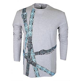 Versace Collection Cotton Grey Long Sleeve T-shirt