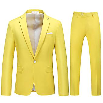 Allthemen Hommes-Apos;s Suits 2-Pieces Suits Slim Four Seasons Suit Veste et Pantalons 5 Couleurs