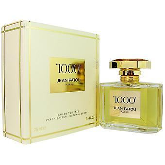 1000 naisten Jean Patou 2,5 oz Eau de Toilette Spray