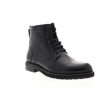 Zanzara Miro  Mens Black Leather Lace Up Casual Dress Boots Shoes