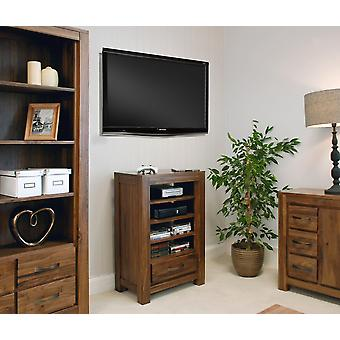 Maya Walnut Entertainment Ancillaries Storage Unit Brown - Baumhaus