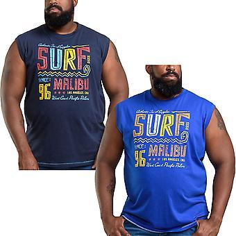 Duke D555 Mens Wallace King Size Big Tall Cotton Sleeveless T-Shirt