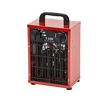 3KW Steel 3-Setting Electric Fan Space Heater Warmer - Warehouse Factory Garage