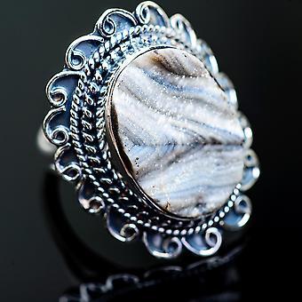 Stor Öken Druzy Ring Storlek 7,25 (925 Sterling Silver) - Handgjorda Boho Vintage Smycken RING996658