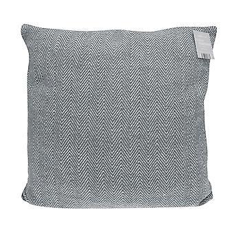Country Club Herringbone Como Jumbo Filled Cushion, 55 x 55cm, Grey