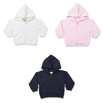 Larkwood Baby/Kids Zip via Hooded Sweatshirt / Hoodie