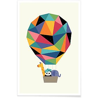 JUNIQE Print -  Fly High Together - Wildtiere Poster in Bunt
