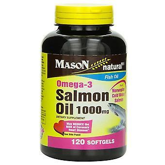 Mason natural omega-3 salmon oil, 1000 mg, softgels, 120 ea