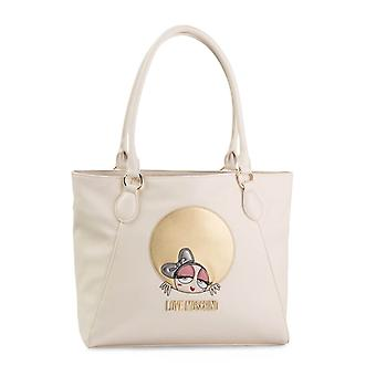 Love Moschino Original Women Fall/Winter Shopping Bag - White Color 40632