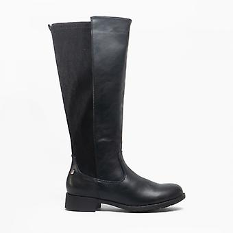 Cipriata Rachela Damer zip hög ben boot svart