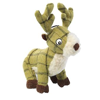 House Of Paws Tweed Plush Stag Dog Toy