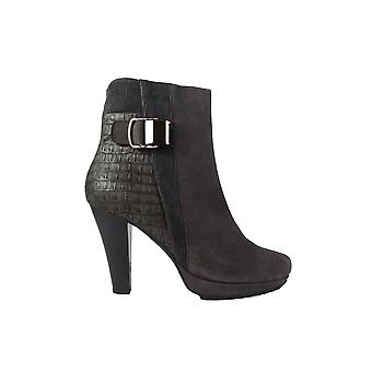Gerry Weber Liliana 17 Grey Leather Womens Stiletto Ankle Boots