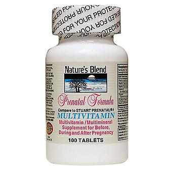 Nature's blend prenatal formula, multivitamin, tablets, 100 ea