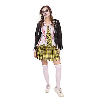 Bristol Neuheit Frauen/Damen Zombie Schule Mädchen Halloween-Kostüm