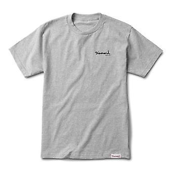Diamond Supply Co Signature Og Script T-shirt - Sc Heather Grey