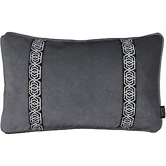 Mcalister tekstiler coba stribe broderet trækul grå pude