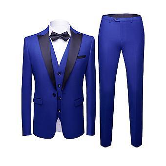 Allthemen Men ' s Tuxedo suit 3 darab vékony Fit vacsora fél ruha Blazer & mellény & pants