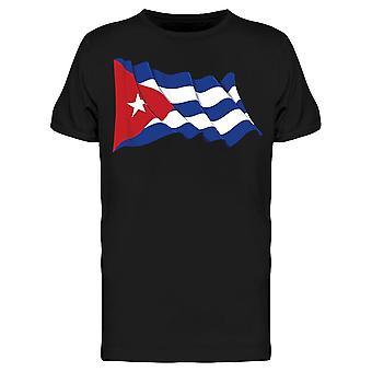 Aaltoileva Kuuban lippu Maa Tee Men's -Kuva Shutterstock