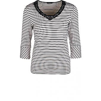 Bianca Striped Lace Detailed Top