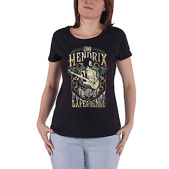 Jimi Hendrix T Shirt Experience Retro Logo new Official Womens Skinny Fit Black