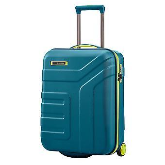 travelite Vector Handgepäck Trolley S, 2 Rollen, 55 cm, 44  L, Petrol/limone