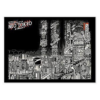 Pôster de Arte - Neo Tokyo - Estúdio Paiheme