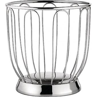 Alessi Citrus Fruit Basket 19cm - Mirror Polished Stainless Steel
