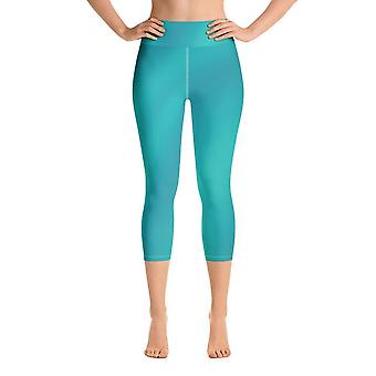 Yoga capri leggings | turquoise shades