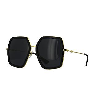 Gucci GG0106S 001 Gold-Black/Grey Sunglasses