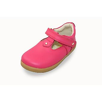 Bobux i-walk louise strawberry shimmer t-bar shoes