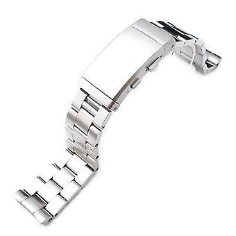 Bracelet de montre strapcode 22mm en acier inoxydable super huître pour seiko plongeur 6309-7040, brossé, fermoir combinaison